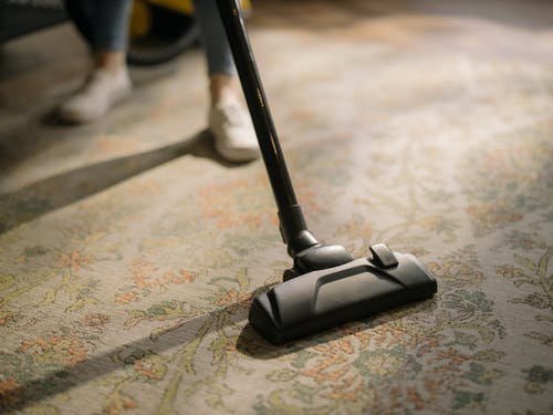 cleaning office floor